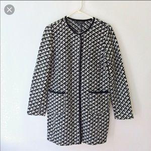Talbots black/white tweed sweater jacket!
